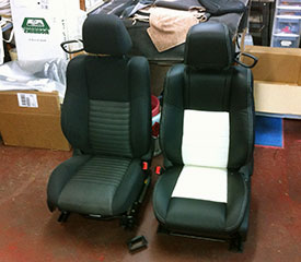 leather seat covers challenger