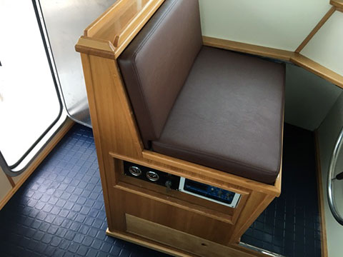 Helm Chair; galley seat & Fishing Fleet Upholstery | Commercial Vessel Upholstery