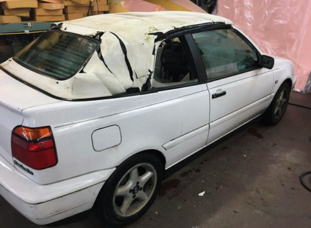Rear Window Still Good New Top For Vw Cabrio Convertible