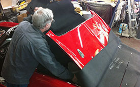 Convertible Top Installation