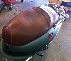 elk leather seat
