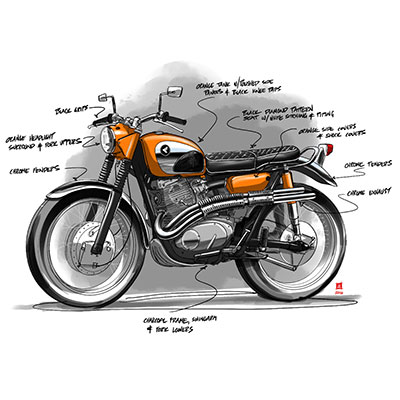 schematic for old bike