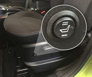Car Seat Heaters Truck Control Button Installed