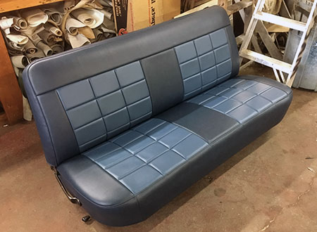 Old Truck Bench Seat Reupholstered